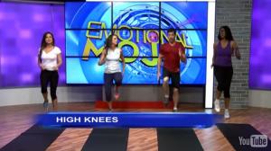7 minute workout - high-knee-running