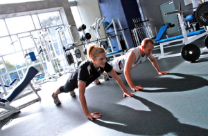 pushups with rotation