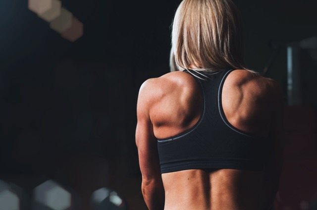 Woman with strong Muscles