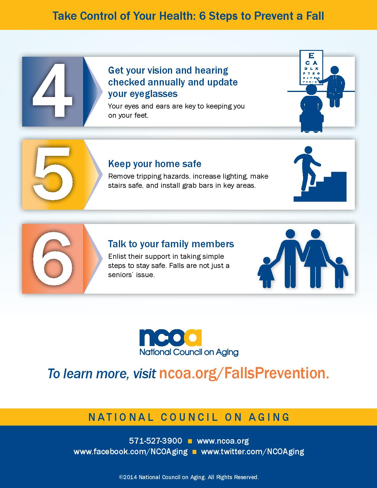 6 steps to prevent a fall infographic page 2