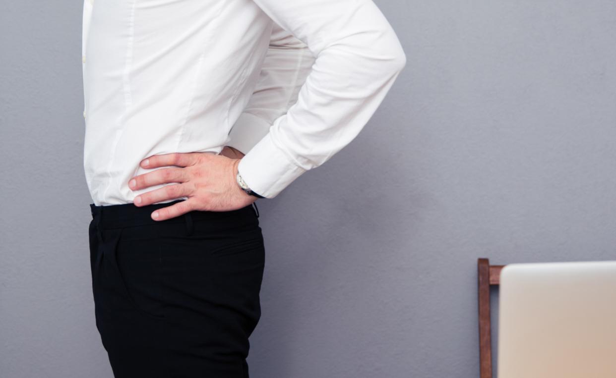 Business Man with Lumbar Disc Herniation Pain