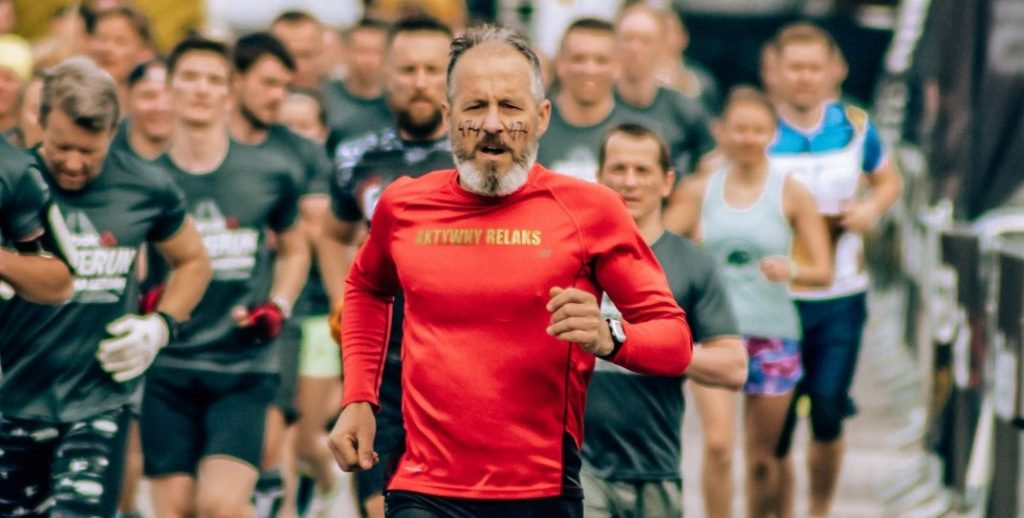 Older Man Running Marathon