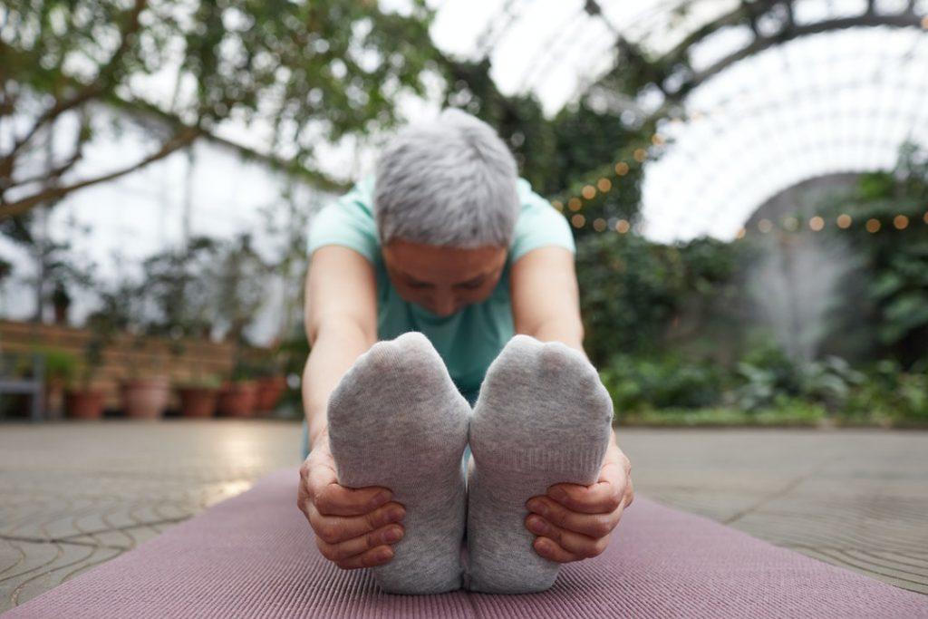 stretching feet